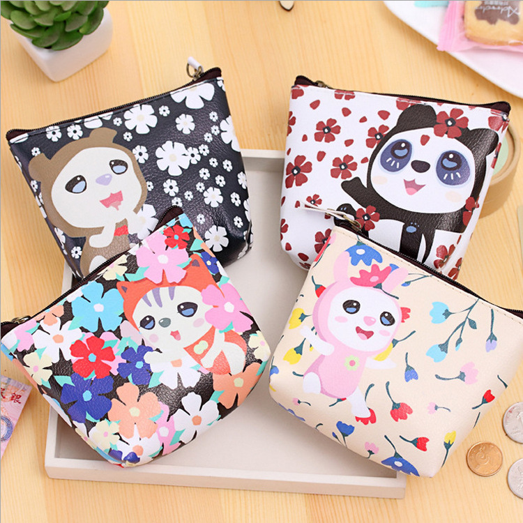 Cartoon Zero Wallet Pu Waterproof Key Pack Creative Coin Pack Holiday Promotional Gifts Coin Purses