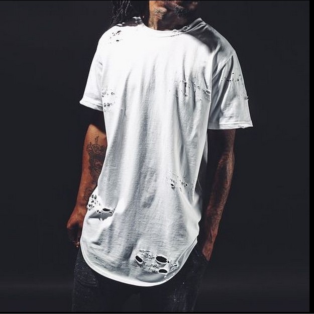 Tyga extended t shirt tee pyrex t shirt straps extra long for Extra tall white t shirts