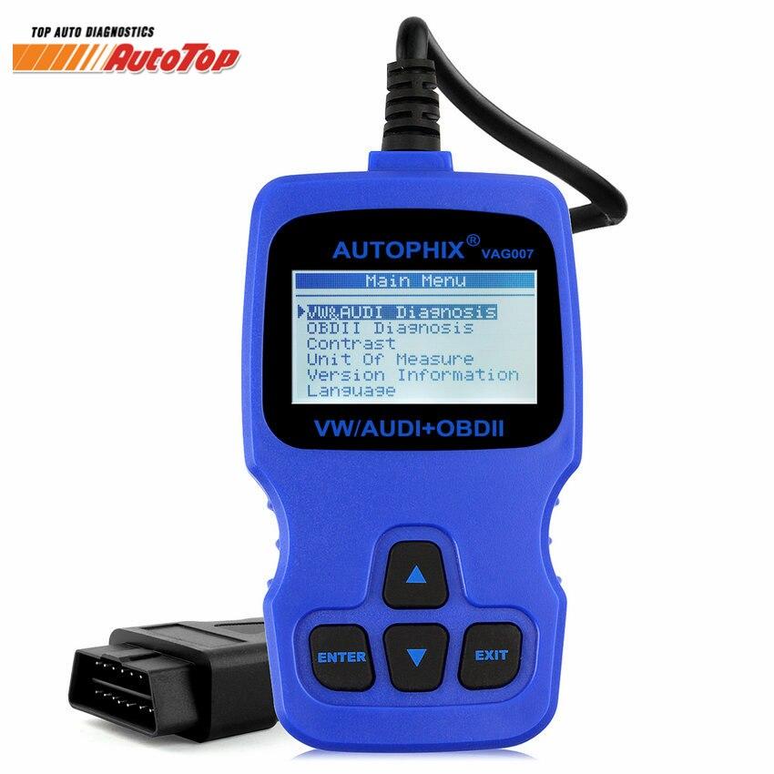 2017 New Auto Diagnostic Scanner  Autophix VAG007 for Audi A3 A4 A6 VW Golf Passat Code Scanner ABS Airbag SRS Code Scan Tool autophix e scan es680 vag rpo obd scanner obdii code scanner