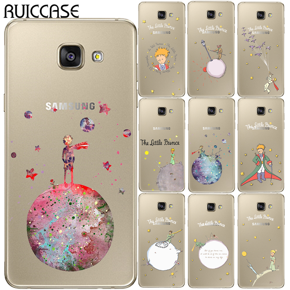 Little Prince Soft TPU Case For Coque Samsung Galaxy A3 A5 A7 2015 2016 2017 A520 A8 Plus A7 2018 Note 3 4 5 8 Phone Back Cover