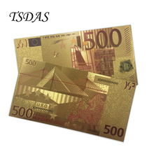 Euro Banknote BANK NOTE 500 Color Banknotes 24KT99.9% Gold For Gift