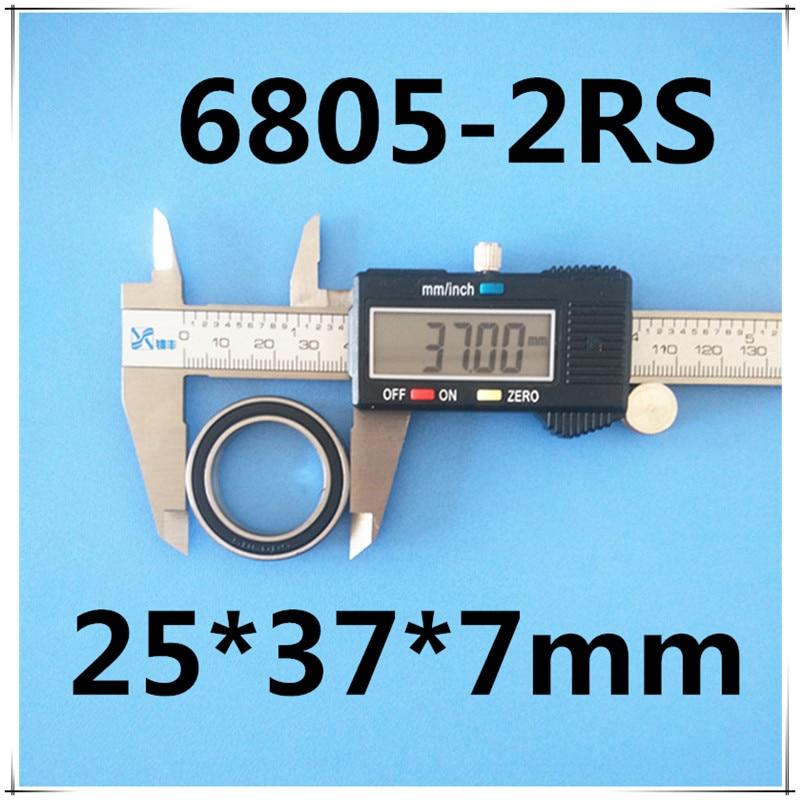 2pcs rubber sealed 440 stainless  hybrid ceramic bearings S6805 6805 2RS 25*37*7mm Si3N4 ball for 25mm shaft2pcs rubber sealed 440 stainless  hybrid ceramic bearings S6805 6805 2RS 25*37*7mm Si3N4 ball for 25mm shaft