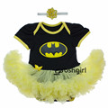 New Minnie Batman Superman Girl Dress Newborn Birthday Gift for Baby Girls Party Outfit Clothing Bebe Infant Romper Tutu Dresses