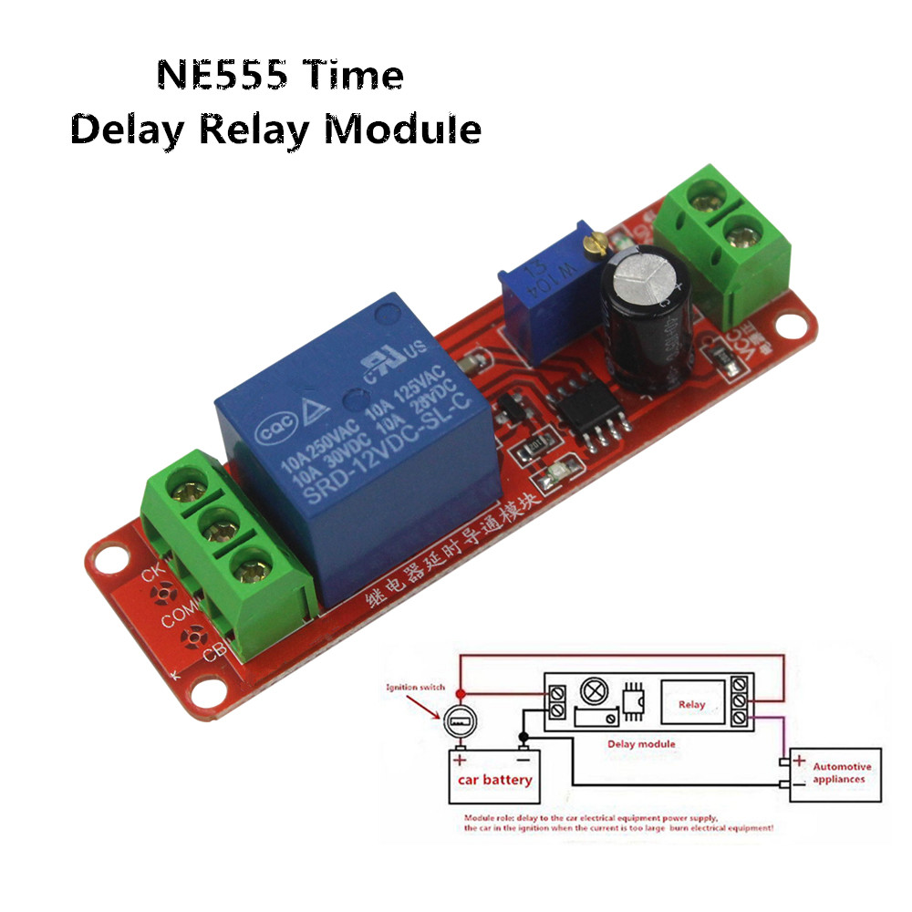 Adjustable Timer Module Circuit Press Button Delay