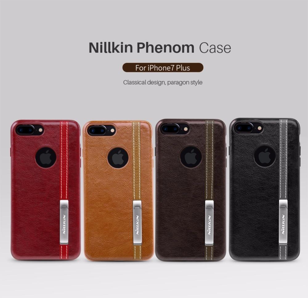 imágenes para Original de Nillkin para el iphone 7 más la caja de Cuero de LA PU de La Vendimia de nuevo cubierta para el iphone 7 soporte para teléfono soporte telefónico trabajar con magnética