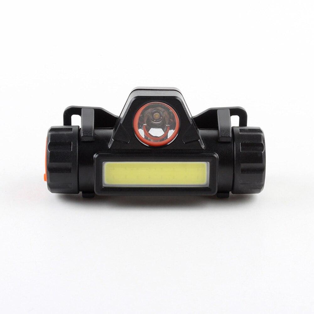 COB Scheinwerfer USB Aufladbare XPE LED Kopf lampe 2 Lichtquelle mit 18650 Batterie Ramping Betrieb Scheinwerfer Für Nacht Angeln