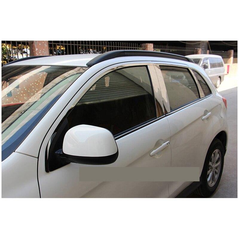 цена на lsrtw2017 304 stainless steel car window chrome trim for mitsubishi asx Outlander Sport rvr 2011 2012 2013 2014 2015 2016 2017