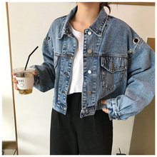 HziriP Fashion Female 2019 New Autumn Loose Casual Batwing Sleeves Vintage Jeans Jackets