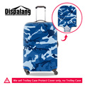 Dispalang brand travel luggage protective covers bule camouflage print trolley suitcase cover for men waterproof dustproof cover
