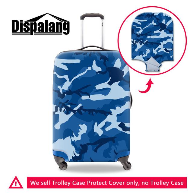 Dispalang marca viagem bagagem tampas de proteção camuflagem bule impressão tampa mala de viagem do trole para os homens à prova d' água à prova de poeira tampa
