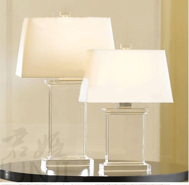 modern bedroom crystal desk lamp bedside white table lamps creative personality decoration led. Black Bedroom Furniture Sets. Home Design Ideas