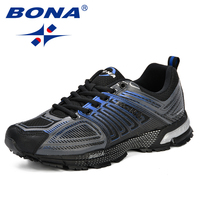 BONA New Fashion Outdoor Men Casual Shoes Adult Comfortable Mens Sneakers 2019 Breathable Lightweight Man Walking Trainers Shoes