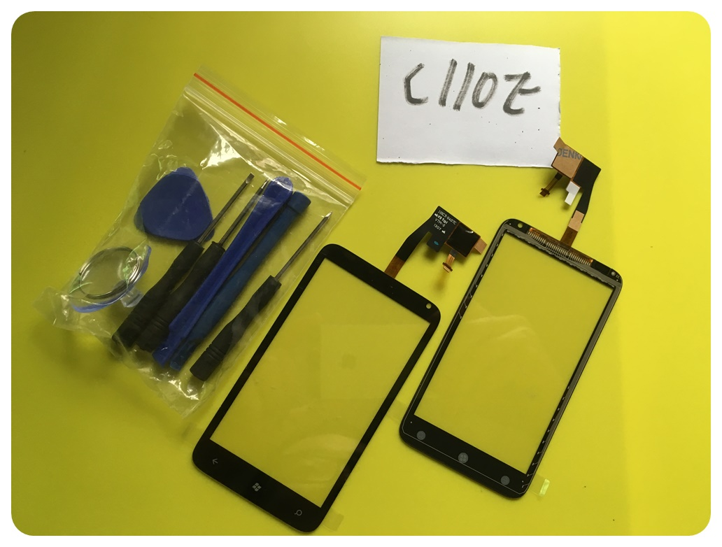 C110E Touch Screen Phone Parts For HTC Radar 4G C110E Front Digitizer Sensor Panel Tools ; With Tracking Number