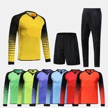 Homens Survetement futebol goleiro formação ternos adulto esponja proteção  camisas de futebol ternos uniformes de goleiro 722096f079fc8