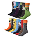 1 Par de Calcetines de Los Hombres de La Pintura Del Arte Abstracto de Serie Patrón De Calcetines de Algodón En Tubo Retro Moda de La Calle Harajuku Calcetines