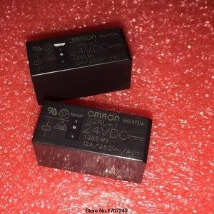 Image 1 - Бесплатная доставка, новинка, оригинальное реле Omron, 10 шт./лот, G2RL 1 24VDC, 1, 2, 2, 2, 24 в пост. Тока, 12А, 5 контактов