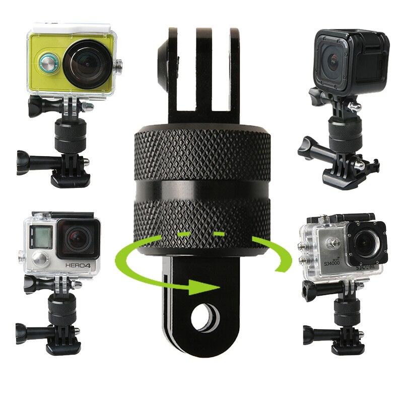 GOLDFOX 360 Degrés Pivot Rotatif Trépied Support pour Gopro Hero 1 2 3 3 + 4 5 pour Xiaomi Yi pour SJCAM 4 k D'action caméra
