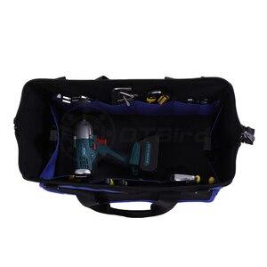 """Image 4 - Maleta de ferramenta de grande capacidade, saco à prova dágua, ferramenta multifunção, espessamento do trabalho, kit de ferramentas de reparo de bolso 14 """", 1 peça 17"""" 19"""""""