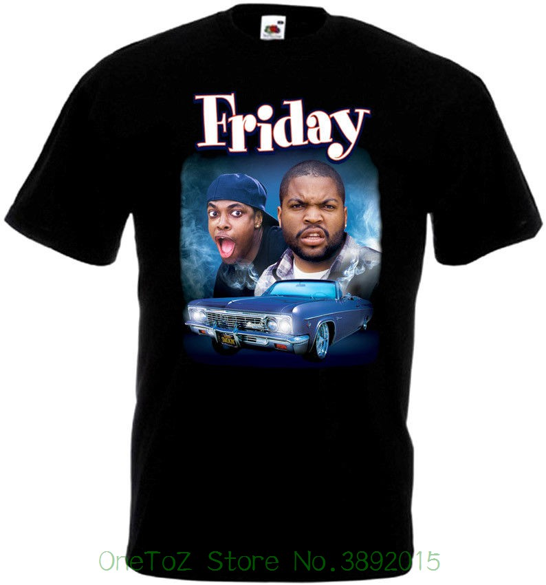 Pure Cotton Round Collar Men Friday T-shirt Black Movie Poster All Sizes S...5xl Ver.2