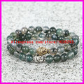 2PCS Buddha head beads Bracelet Bangles Natural agate Stone Charm Bracelet For Women/Men Jewelry 2015 Bracciali crystal pulseira