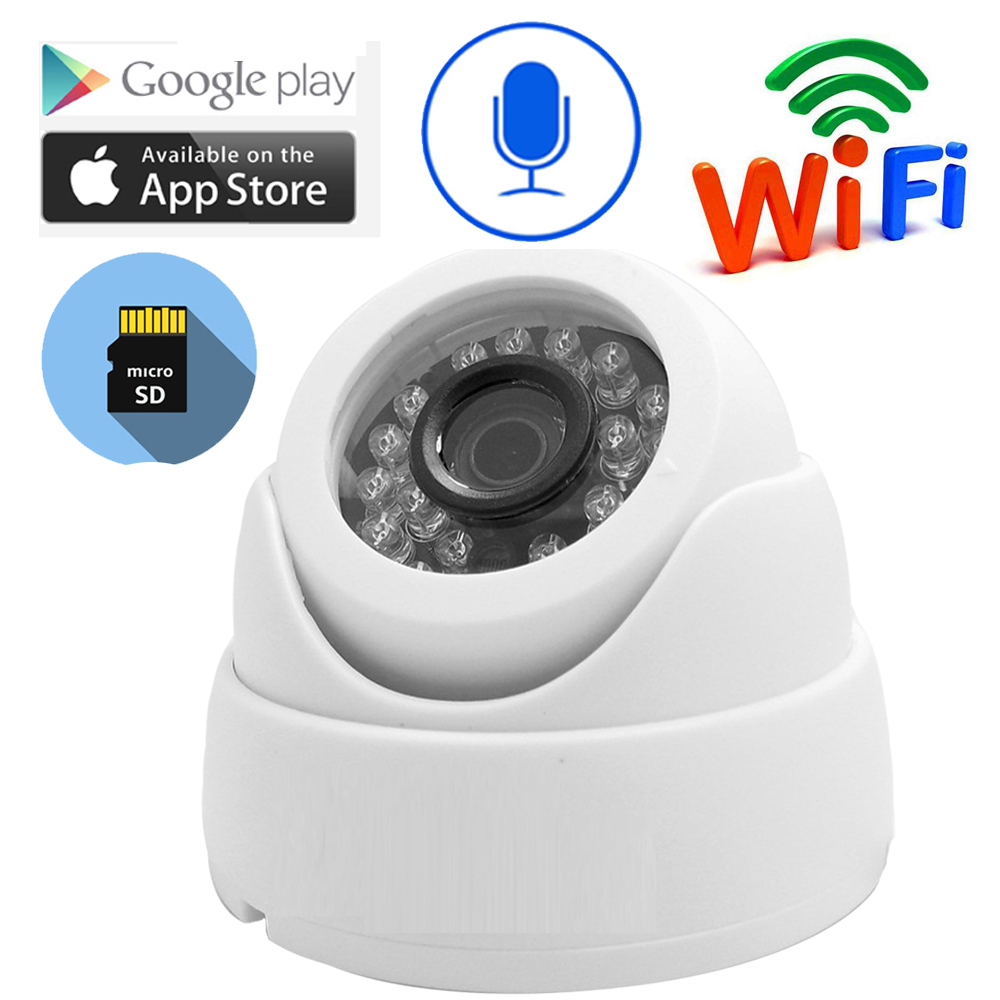 Ip Camera 1080p Wifi 720P 960P HD Surveillance Home Security Onvif Wireless CCTV Camera TF Card Slot Infrared Audio Dome Camera