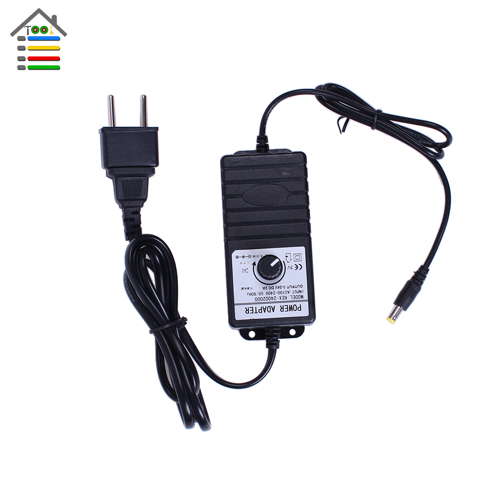 New Adjustable Dc Adapter 3 24v 2a Power Supply For Dc
