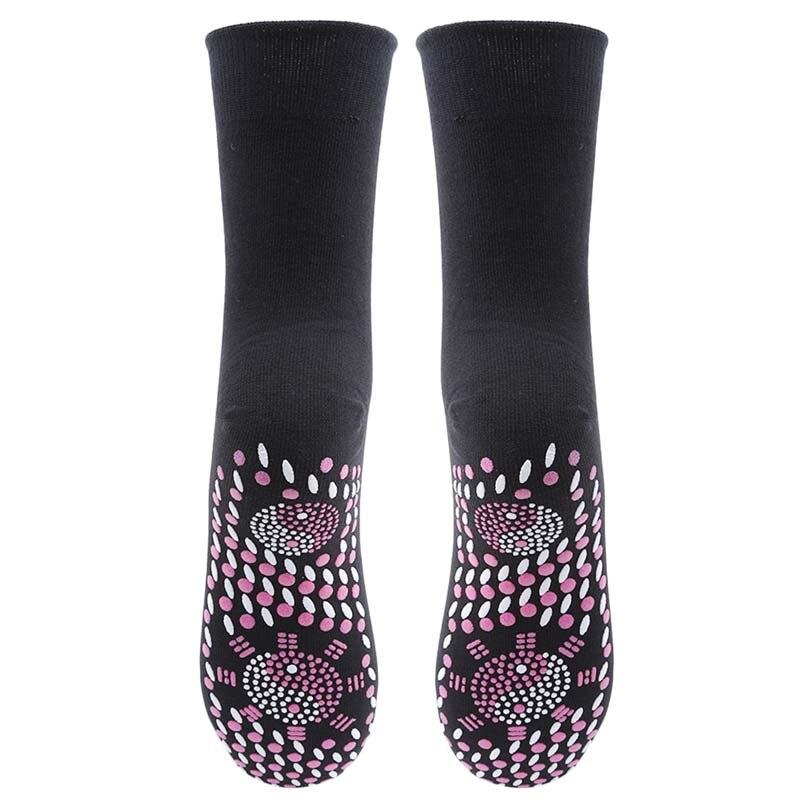 1 Pair Hot Sale Women Tourmaline Self Heating Socks 4 Colors Help Warm Cold Feet Comfort Hot Stockings