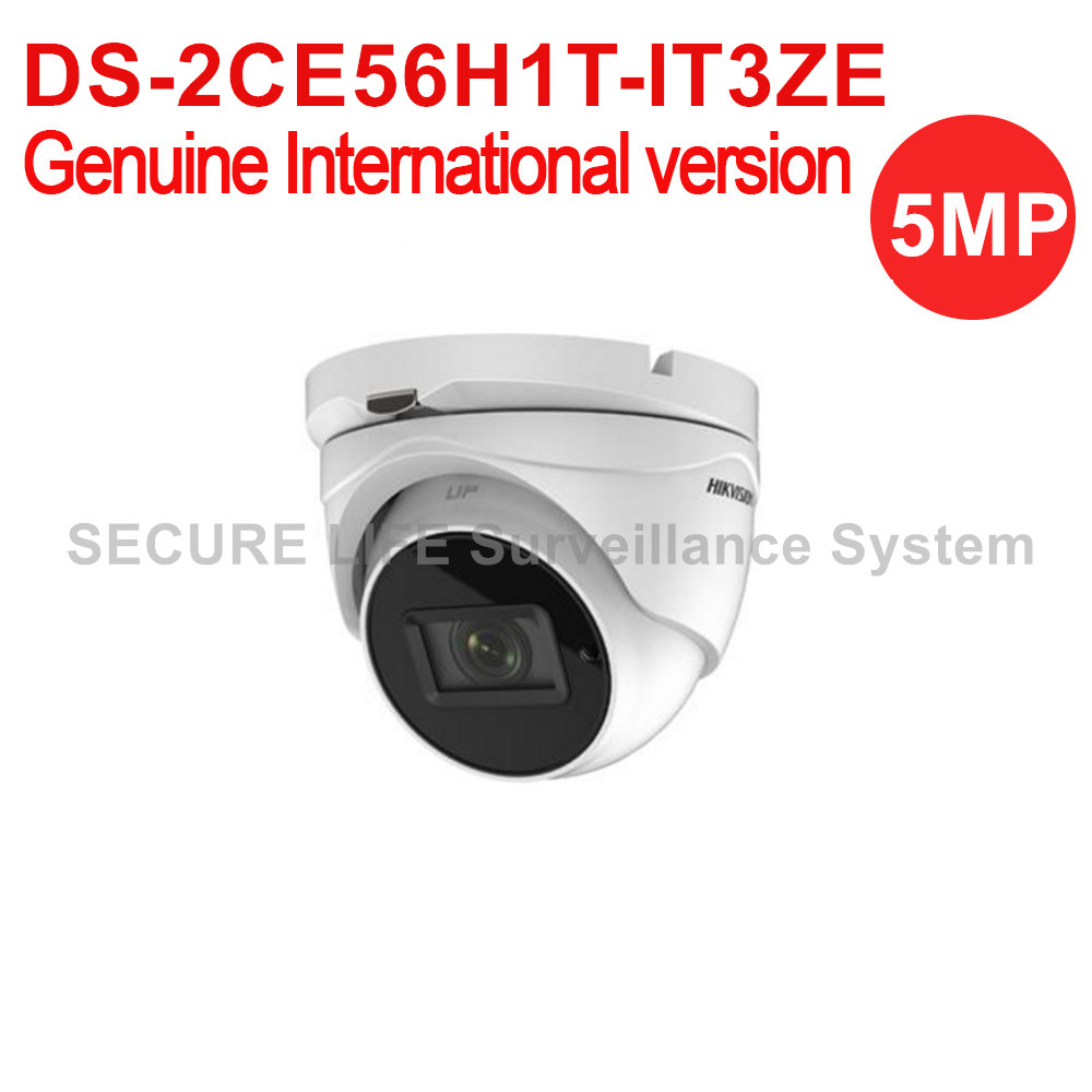DS-2CE56H1T-IT3ZE English version 5MP Turbo HD TVI camera EXIR 2.0 dome Camera OSD menu, 40m IR IP67 vari-focal lens 2.8-12mm комплекты акустики focal pack dome 5 1 black