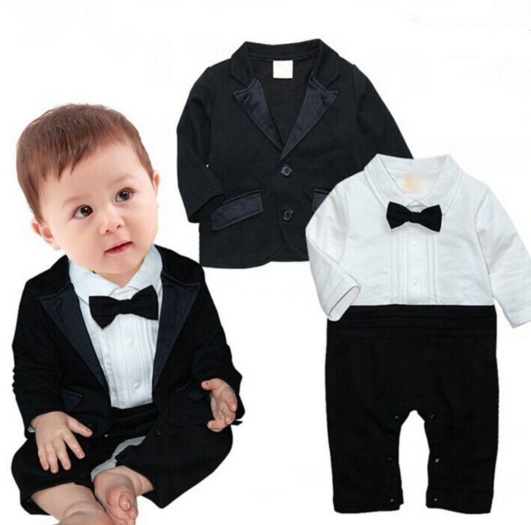 c15e6d1dcfcd 0 24 Months Handsome Baby Romper Boy Clothes Wedding Suits For Baby ...