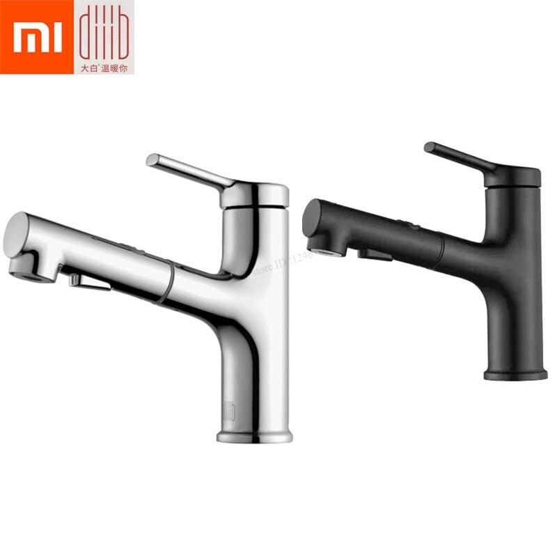 Xiaomi Mijia Dabai robinet de lavabo de salle de bains avec pulvérisateur rabattable 2 Mode de pulvérisation mitigeur à levier unique