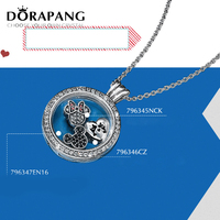 DORAPANG 100% 925 Sterling Silver Pendant Magnetic DIY Chain Memory Floating Locket Hallowmas Lovely Charms Necklace jewelry