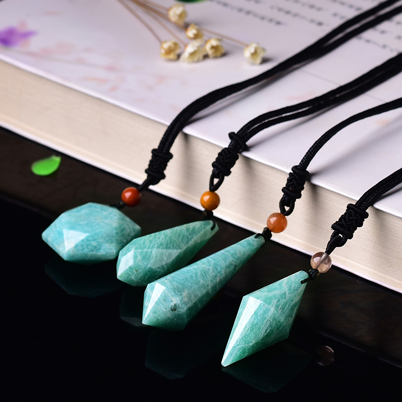 Natural river rock spirit pendulum pendant men and women pendant drop the tears dripping from the six mount necklace pendant