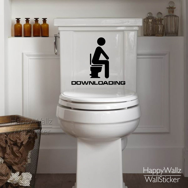 Loading Toilet Wall Sticker Bathroom Quote Decal Decorating Diy Washroom Decals Removable Easy