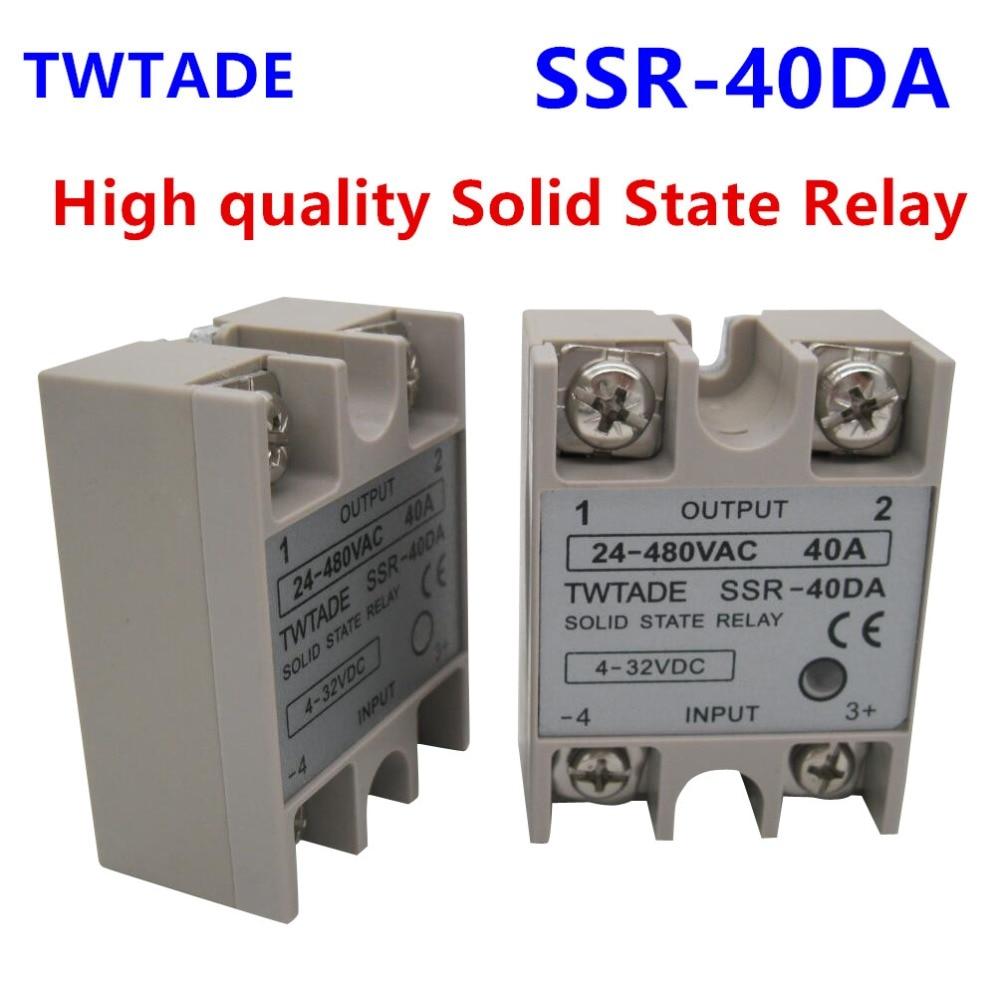100A//40A//25A 250V SSR-100DA SSR-40DA SSR-25DA Solid State Relay Module Heat Sink