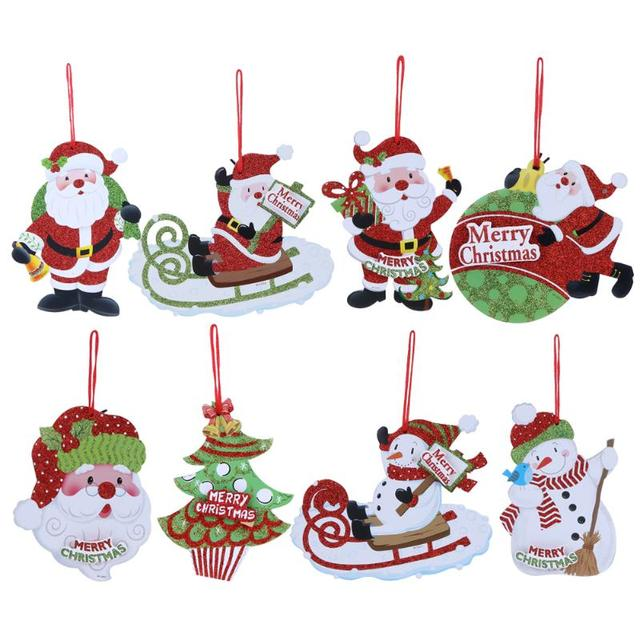 Frohe Weihnachten Anhänger.Us 1 04 10 Off Frohe Weihnachten Buchstaben Schneemann Weihnachtsmann Weihnachtsbaum Form Hängende Dekoration Weihnachtsbaum Anhänger Ornament