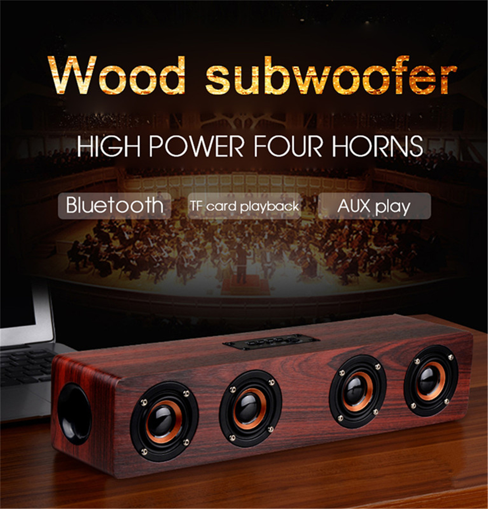 High quality Hi-fi Bluetooth Speaker Sound System 12W USB Charging Wood Speaker Portable Wireless Party Speaker for Home Outdoor