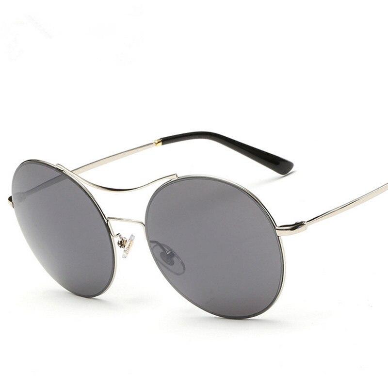 3ba19c7094296 2016 Ronde Femmes lunettes de Soleil Marque Designer Métal Cadre Lumière  oculo de sol feminino Lunettes De Mode Hommes lunettes de Soleil lunettes  de soleil