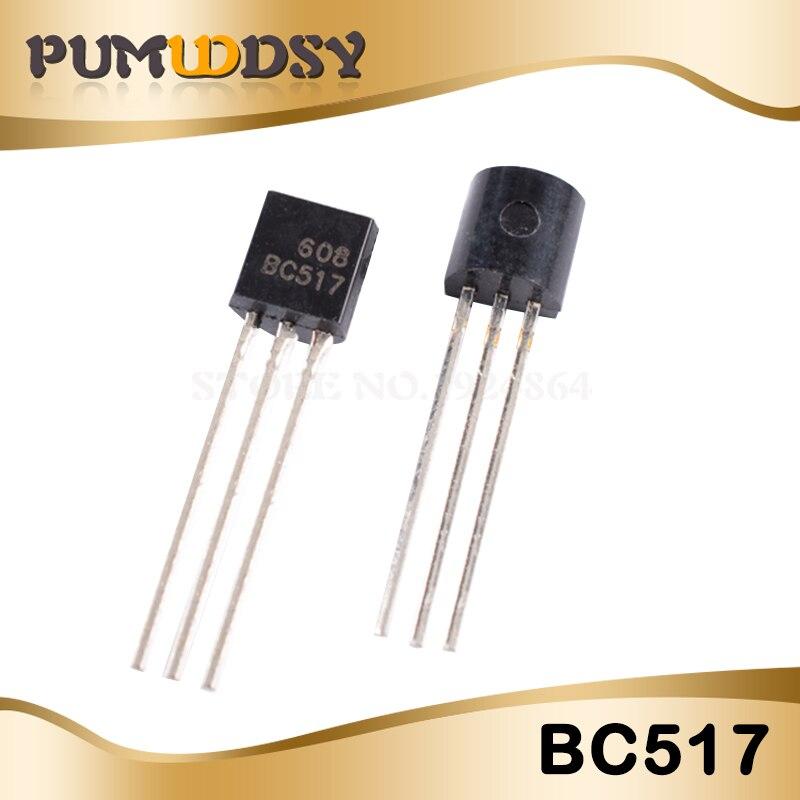 50pcs BC517 NPN Darlington Transistor 625mW 30V 500mA