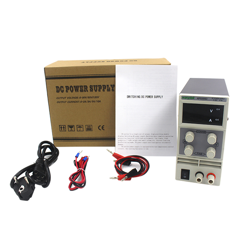 KPS305D Adjustable precision double LED display 30V 5A Variable switch DC Digital Display Regulated adjustable Mini Power Supply 305d dc power supply adjustable digital high precision dc power supply led protection 30v 5a regulator switch dc power supplies