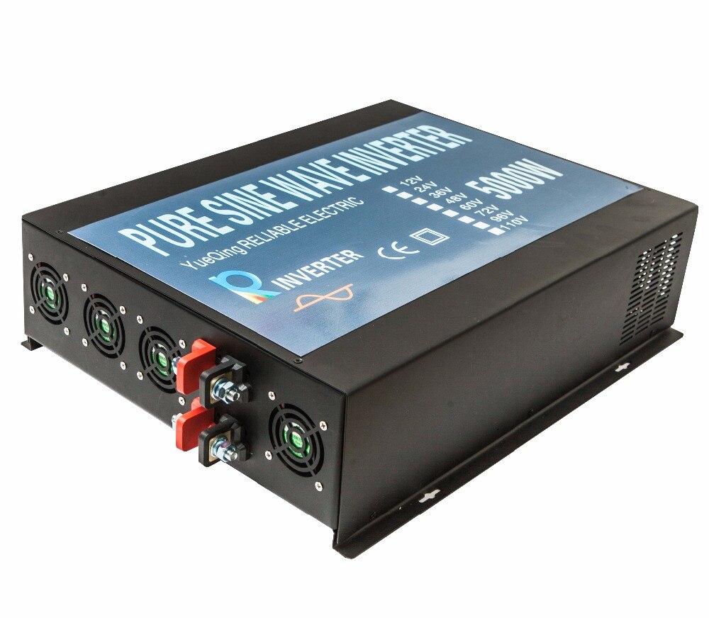 цена на CE EMC Approved 5000W Pure Sine Wave 12V 24V 48V Dc to Ac 120V 220V 230V 240V LED Display Off Grid Solar Power Home Inverter