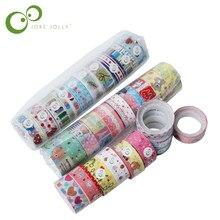 10 Stks/partij 200Cm Lengte Cartoon Zelfklevende Masking Tape Decoratieve Afdichting Tape Diy Briefpapier Scrapbooking Sticker Speelgoed Gyh