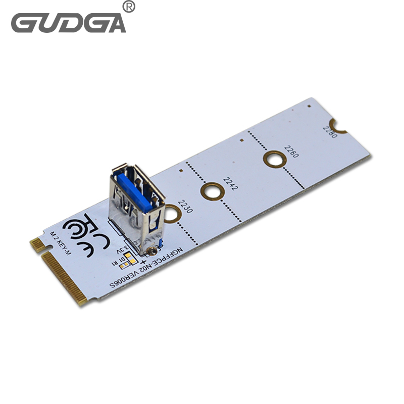 NGFF M.2 To USB 3.0 Adapter Converter Expansion GPU Riser Card for Mining USA