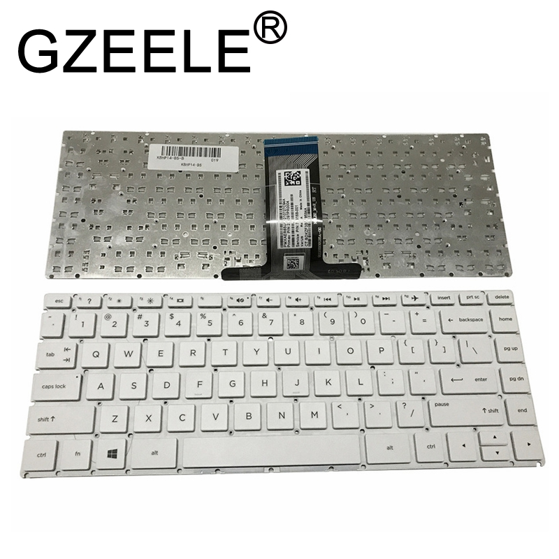 GZEELE clavier AMÉRICAIN POUR clavier d'ordinateur portable HP X360 14-ba049tx 14-BS042TX 14G-BR002TU 14-BS 14Q-BU W125 Anglais clavier US noir 14-BF 14-BP 14-BW