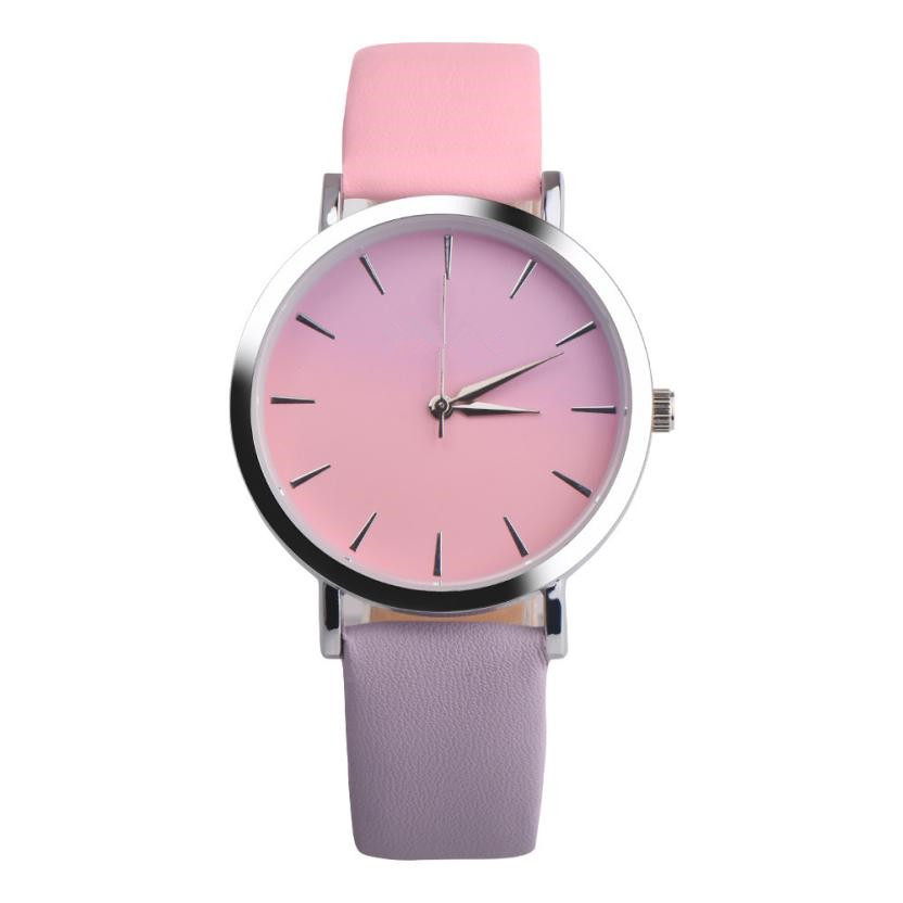 Retro Rainbow Design clock Women Watch Casual Colorful Leather Band Analog Alloy Quartz Ladies Wrist Watch relogio feminino women watches brand elegant retro rainbow design leather band analog alloy quartz wrist watch female clock relogio feminino
