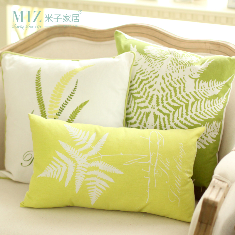 Miz Home Original Desined Pantanal Series Leaf Pattern Pillow Good Quality Cotton Meterial-in ...