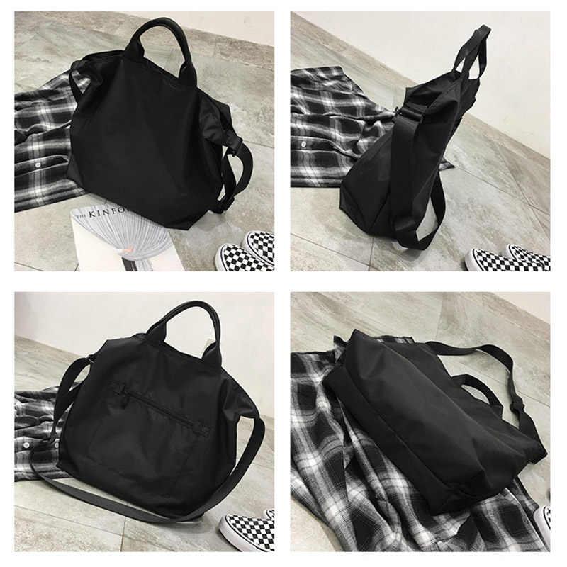 Wehyah нейлоновая сумка для покупок сумки через плечо для женщин сумки ручной сумки большой емкости клатч черные случайные женские сумочки ZY049