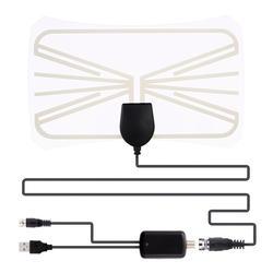OOTDTY 174 ~ 240 мГц 1080 P HD ТВ Indoor ТВ антенна с высоким коэффициентом усиления усилитель УКВ приемник сигнала 28dB 220*140 мм