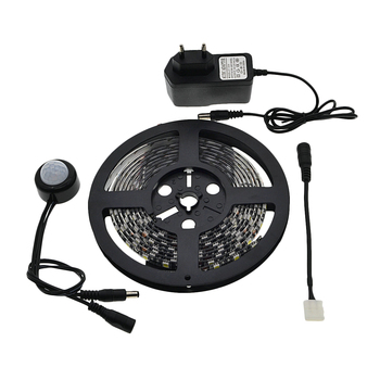 LED Sensor de movimiento impermeable 1-5 m PIR LED de tira Blanco/blanco cálido con cierre automático de temporizador de alta calidad cama Luz