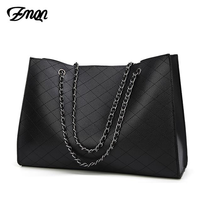 ZMQN Leather Bags For Women 2018 Luxury Handbags Women Bags Designer Big Tote Hand Bag Chain Leather Handbag Set Bolsa Feminina