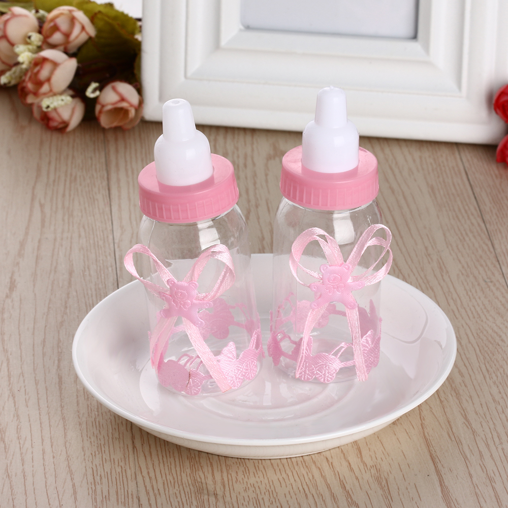 2 Pcs Baby Bottle Candy Box Party Supplies Baby Feeding Milk Bottle ...